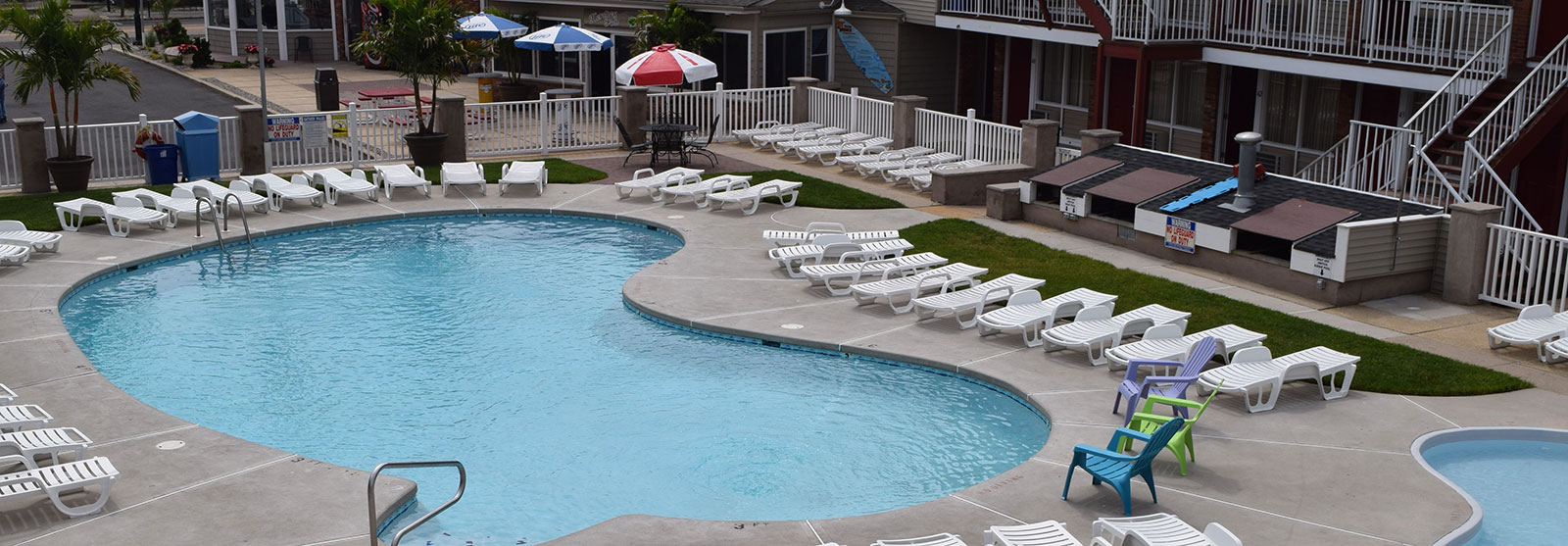 Boasting the largest pool in Seaside Heights!